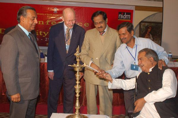 Ashok Hans with Guest inaugurating the DIDRR Meeting