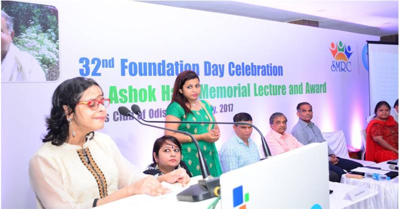 Jeeja Ghosh speaking during an event