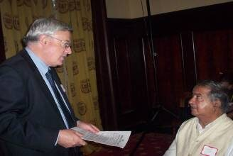 Ashok Hans with Don McKay Chair UN Ad Hoc Committee UNCRPD