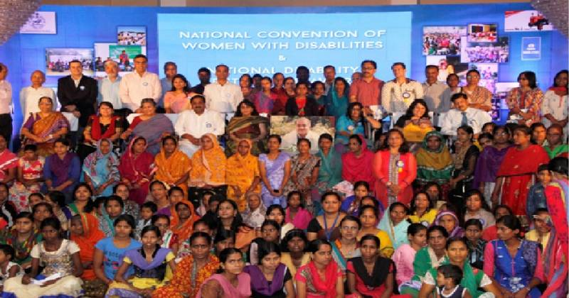 National Convention of Women with Disabilities participants group photo