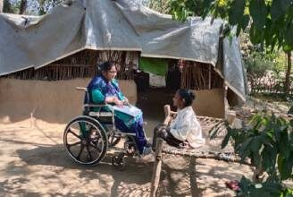 Bhanu speaking with Nita in Gujarat