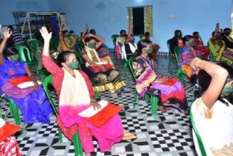 Women with disabilities in Odisha discussing Rights