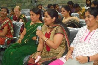 Women with disabilities in Bangalore speaking on Rights